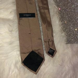 Givenchy tie silk men's beige brown tan business